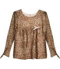 blusa animal print mapamondo lidya
