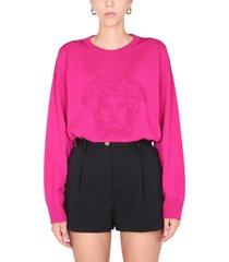 versace sweater with medusa logo