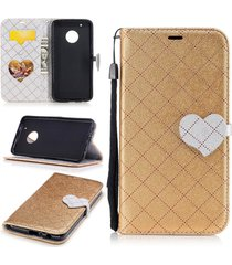 moto g5 plus phone case,xyx love hit color leather folio flip card slots magneti