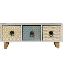mini gaveteiro 3 gavetas retangular bris - multicolorido - dafiti