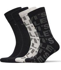 levis giftbox reg cut logo aop 4p underwear socks regular socks svart levi´s