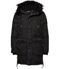 w-bullisk overcoat parka jas zwart diesel men