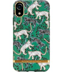 richmond & finch green leopard case for iphone xr