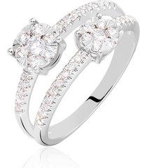 anello in oro bianco e diamanti 0,60 ct per donna