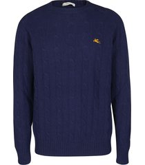 etro blue wool jumper