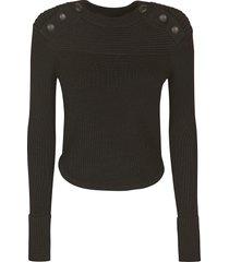 isabel marant button embellished knit sweater