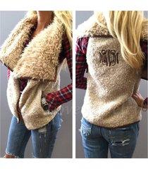 fashion women's winter faux fur vest sleeveless outerwear gilet waistcoat jacket