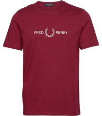 graphic t-shirt t-shirts short-sleeved röd fred perry