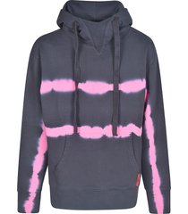msgm striped paint hoodie