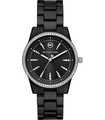 women's michael kors ritz pave ceramic bracelet watch, 37mm