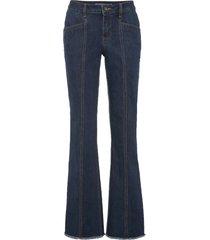 jeans a zampa con impunture modellanti (blu) - rainbow