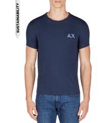 ax armani exchange men's slim-fit double logo t-shirt