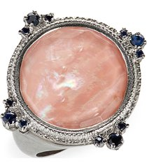 women's armenta new world mother-of-pearl & sapphire ring