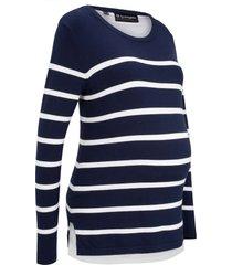 pullover prémaman e per l''allattamento (blu) - bpc bonprix collection