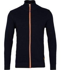 kronstadt erik zip vest cardigan 50004 navy/orange -