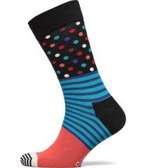 stripes and dots sock underwear socks regular socks svart happy socks