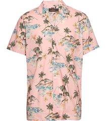 david bowling shirt overhemd met korte mouwen roze morris