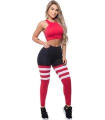 legging trincks college vermelho/preto - kanui