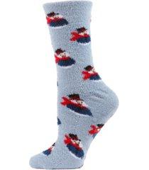 snowman cosy women's crew socks