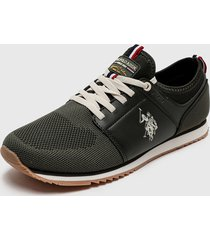 zapatilla urbana verde us polo assn