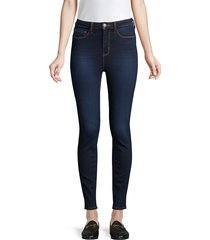 l'agence women's katrina ultra high-rise ankle skinny jeans - lapis - size 24 (0)