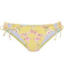 bikini lascana sunseeker geel geknoopte zwempakkousen