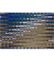 """american school beach stripes wavy 2 canvas art - 20"""" x 25"""""""