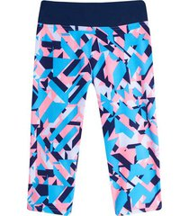 legging capri estampado color azul, talla s