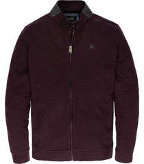 zip jacket interlock plum perfect