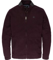 zip jacket interlock plum perfect