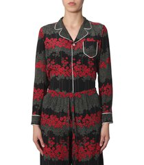 red valentino shirt with dreaming peony print