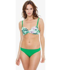 bikini verde mare moda flakes