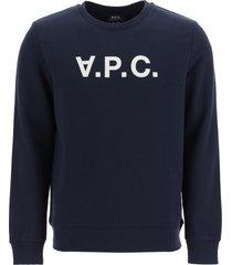 p.c.v.c. flock logo sweatshirt