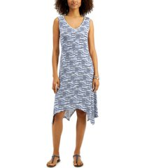 style & co plus size striped handkerchief dress, created for macy's