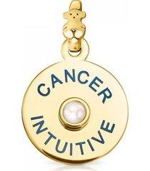 dije tous horoscopes cáncer de plata vermeil con perla