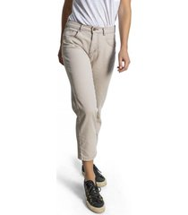 pantalon recto mujer beige froens