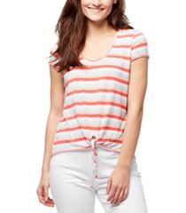 william rast astrid striped tie-front t-shirt