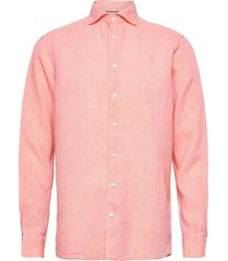 contemporary fit business casual linen shirt overhemd casual roze eton