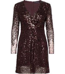 emille sparkle short dress kort klänning lila french connection