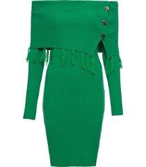 abito in maglia con spalle scoperte (verde) - bodyflirt boutique