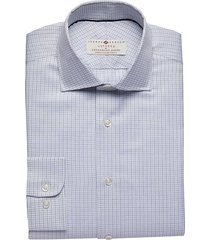 joseph abboud voyager men's blue check modern fit dress shirt - size: 17 1/2 36/37