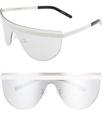 women's courreges 99mm flat top shield sunglasses -