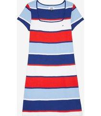 tommy hilfiger women's adaptive stripe mini dress blue depths/multi - m
