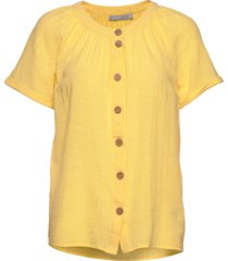 frjaslub 1 blouse blouses short-sleeved gul fransa