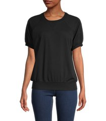 theo & spence women's short-sleeve sweatshirt - light heather grey - size m