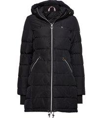 all weather down jacket gevoerde lange jas zwart röhnisch
