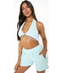 overdye pastel sweat shorts, mint