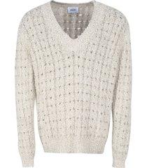 nanushka mist cable knit pullover