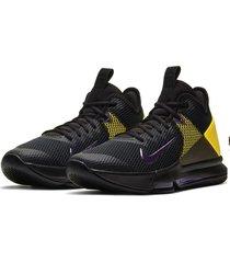 9-zapatillas de hombre nike lebron witness iv-negro