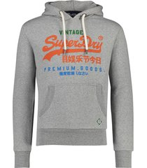 grijze sweater capuchon superdry